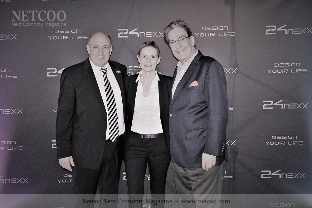 Michael Strachowitz (rechts) mit Achim Hickmann und Melanie Blankmann