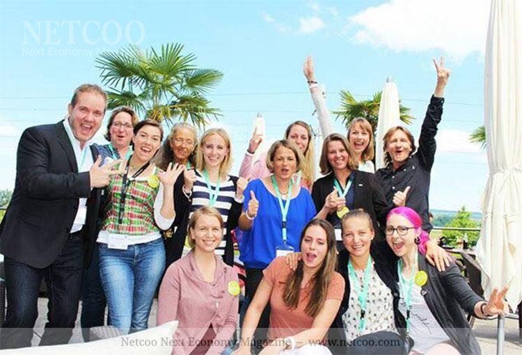 Christiana Scheibl und Team bei der RINGANA Akademie in der Schweiz