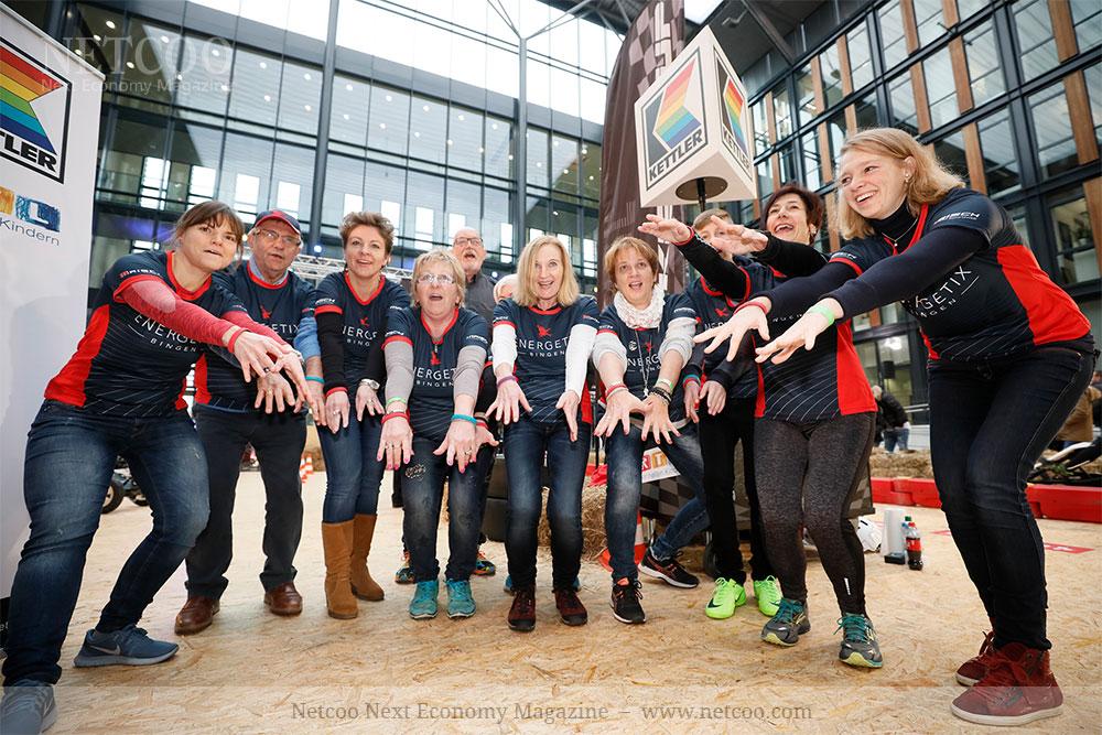 Ein Teil des hochmotivierten Energetix Teams bei der 24h-Challenge