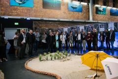 Ingolf Winter und die Gäste der Ausstellung