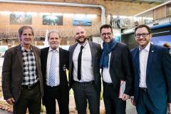 Jo Leinen mit Ingolf & Michael Winter und Reinhold Jost und Soeren Meng