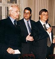 Endmund Stoiber, Moritz Hunzinger und Bill Gates
