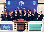 Das Nu Skin Management in der New Yorker Börse