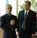 Franz Gaag (rechts)