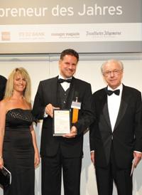 Rolf Sorg mit Ehefrau Vicki und Lothar Späth