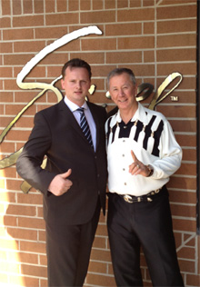 Christian Laack und Tom Mower