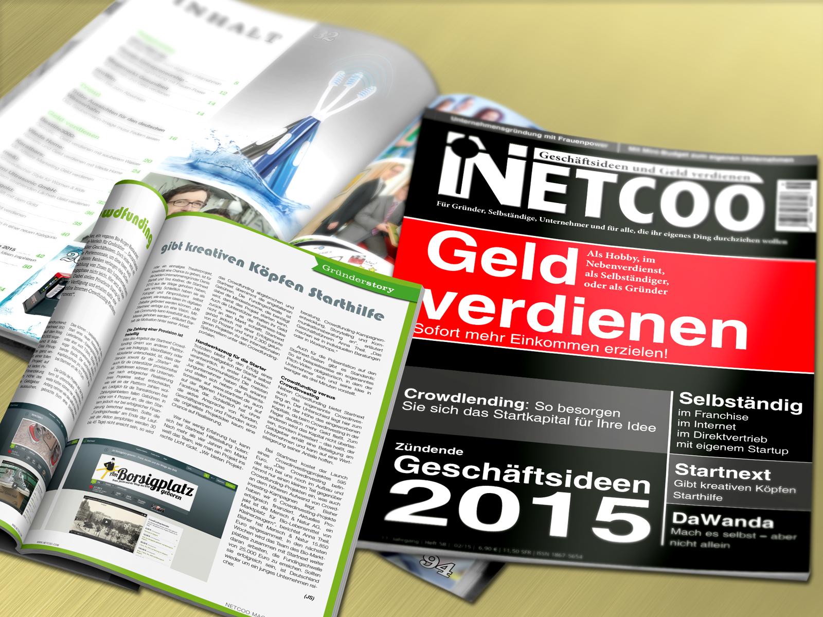 Cover und Inhalt Netcoo Magazin 02-2015