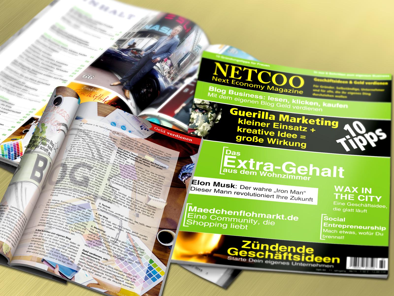 Cover und Inhalt Netcoo Magazin 06-2015