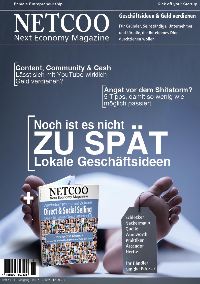 Cover Netcoo Magazin 08-2015