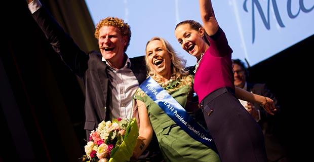 Gerald Heydenreich, Michaela, Ustorf und Annette Albrecht-Wetzel