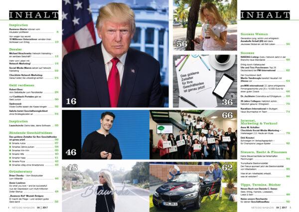 Netcoo Magazin 04-2017 Inhaltsverzeichnis