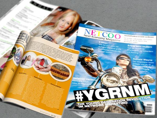 Cover und Inhaltsverzeichnis Netcoo Magazin 06-2017